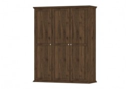 Paris 3 Door Wardrobe Walnut