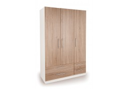 Connect Euston 3 Door Wardrobe with 4 Drawers