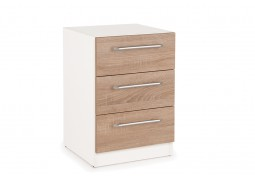 Connect Euston 3 Drawer Bedside