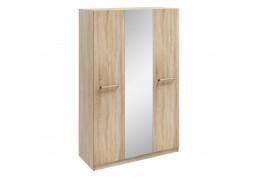 Hampton 3 Door Mirrored Wardrobe