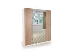 Connect Euston 4 Door Wardrobe with 2 Mirrors