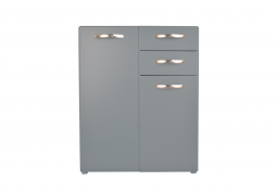 Retro Sideboard - Soft Grey - Small