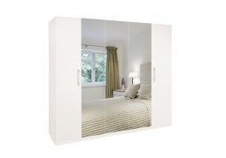 Acton 5 Door Mirrored Wardrobe
