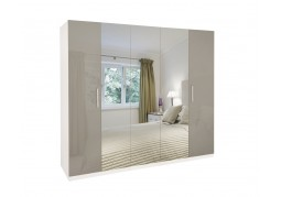 Bayswater High Gloss 5 Door Mirrored Wardrobe