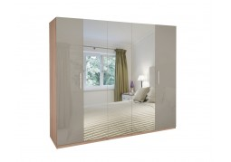 Kensington High Gloss 5 Door Mirrored Wardrobe