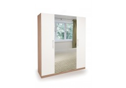 Connect Hyde 4 Door Wardrobe with 2 Mirrors