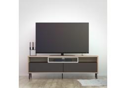 Match TV Unit - Oak Black & White