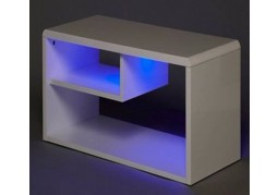 Hugo White TV unit	with LEDS