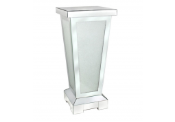 Frosted Diamond Crush Mirrored Pillar