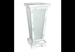 Frosted Diamond Crush Mirrored Pillar