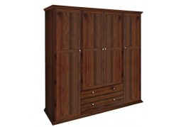 Paris 4 Door + 2 Drawer Wardrobe Walnut