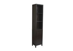 Brown-Black Wood Bathroom Tall Boy