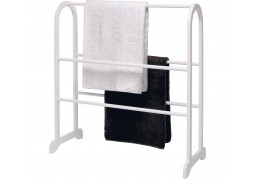 White Wood Towel Rail