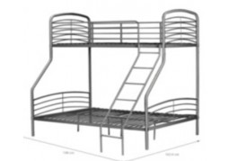 Triple Metal Bunk Bed - Grey