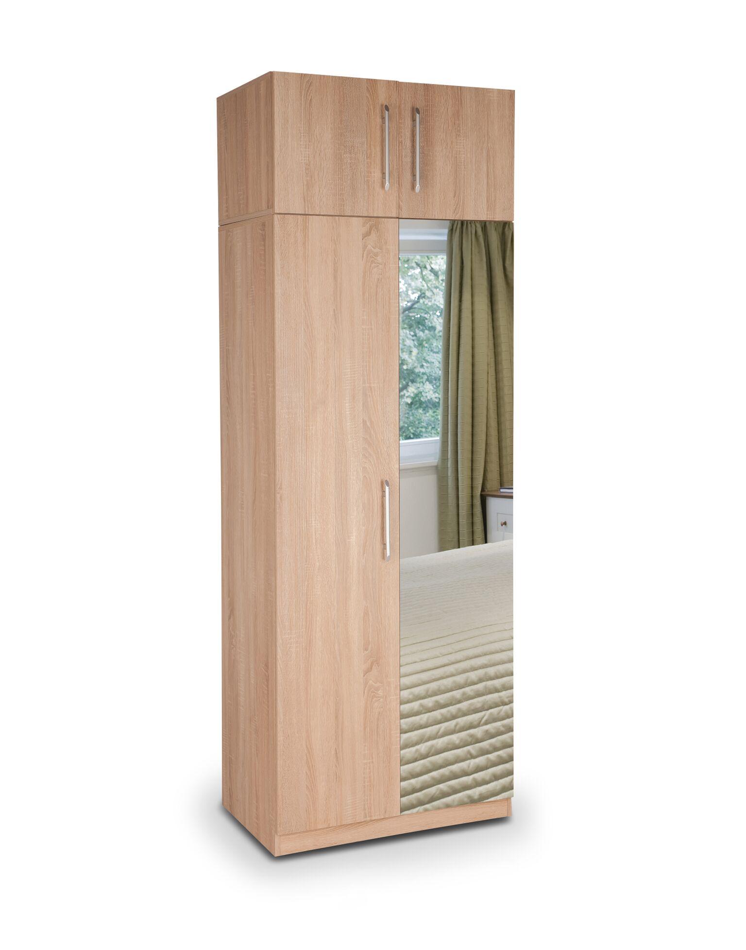holborn plus 2 door wardrobe with 1 mirrored door