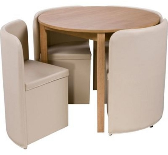 Space saver chairs cream