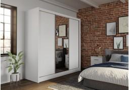 Berlin White 3 Door Sliding Wardrobe